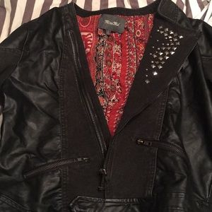 Miss me cropped leather jacket